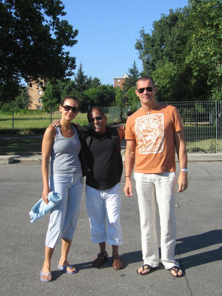 Isa, Manju e Massimo - aprile 2007