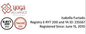 Yoga Alliance E-RYT200 e YACEP Registry
