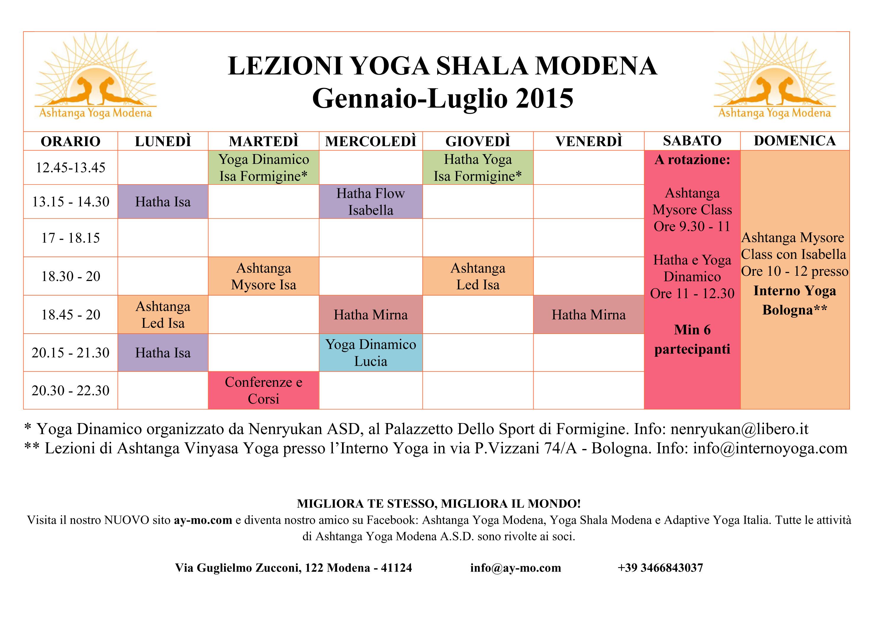 Orario Lezioni Archives Ashtanga Yoga Modena Asd