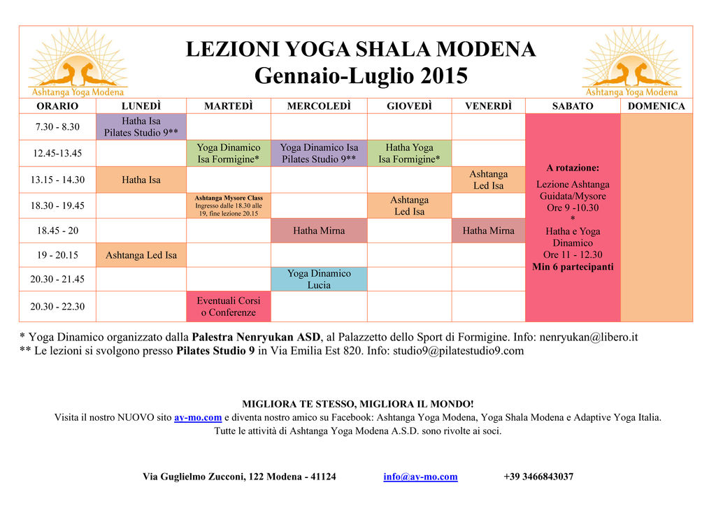 Lezioni Yoga Shala Modena